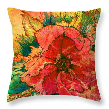 Christmas Flower Throw Pillow