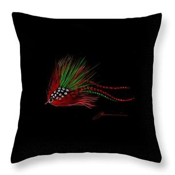 Christmas Fly Throw Pillow by Jean Pacheco Ravinski