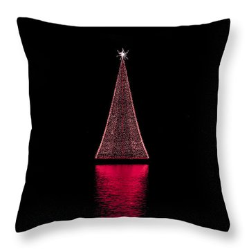 Christmas Full Moon Throw Pillow