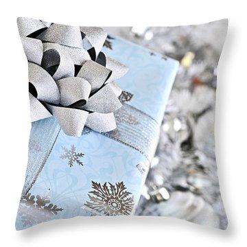 Christmas Gift Box Throw Pillow by Elena Elisseeva