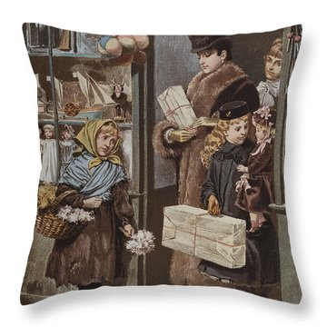 Christmas Gifts Throw Pillow by Adrien Emmanuel Marie
