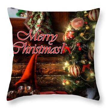 Christmas Greeting Card Viii Throw Pillow by Alessandro Della Pietra