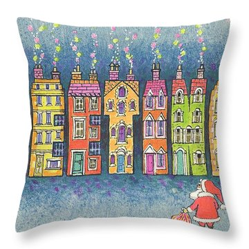 Christmas Greetings  Throw Pillow by Stanley Cooke