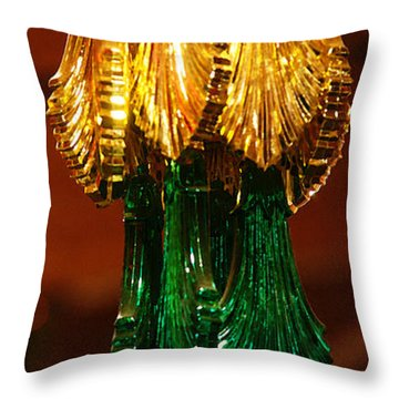 Throw Pillow featuring the photograph Christmas Holiday Party 4 by Linda Shafer
