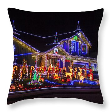 Christmas House Throw Pillow by Garry Gay