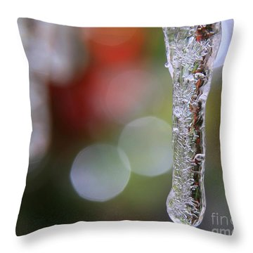 Christmas Icicles Throw Pillow