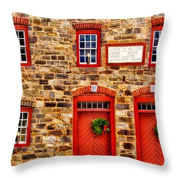 Christmas In Bethlehem Pa Throw Pillow