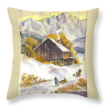 A Winter Wonderland Part 1 Throw Pillow by Carol Wisniewski
