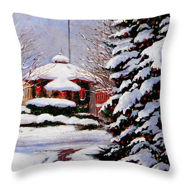 Christmas In Chagrin Falls Throw Pillow