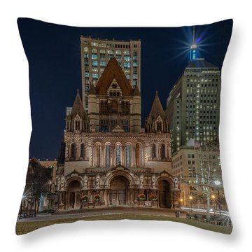 Christmas In Copley  Throw Pillow