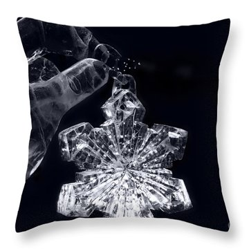 Christmas In Ice Throw Pillow by Sharon Mau