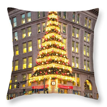 Christmas In Pittsburgh  Throw Pillow