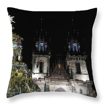 Christmas In Prague Throw Pillow