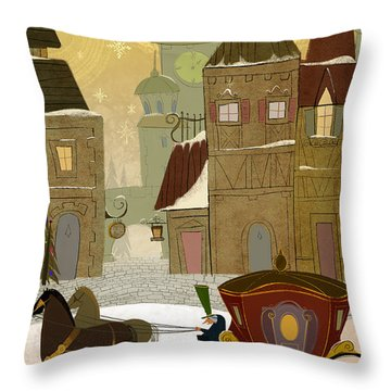 Christmas In The Old World Throw Pillow