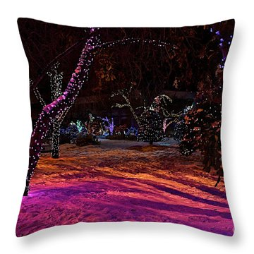 Christmas In The Park Throw Pillow