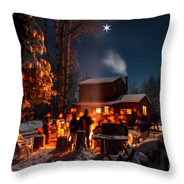 Christmas In The Woods Throw Pillow