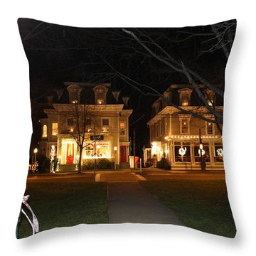 Christmas In Town Throw Pillow