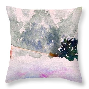 Christmas Is Coming Throw Pillow by Yoshiko Mishina