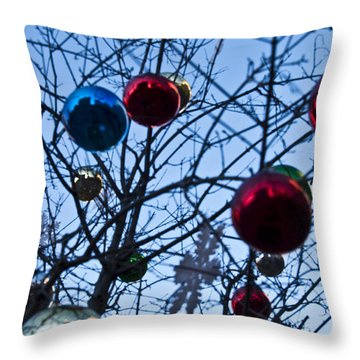 Christmas Is Looking Up This Year Throw Pillow by Bill Cannon