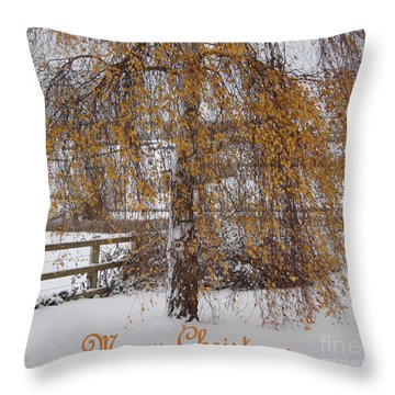Christmas Is Orange Throw Pillow