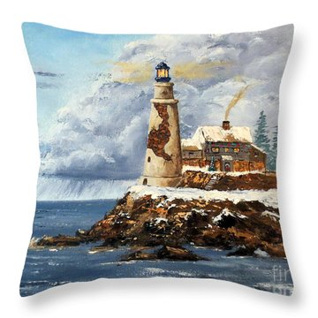 Christmas Island Throw Pillow by Lee Piper