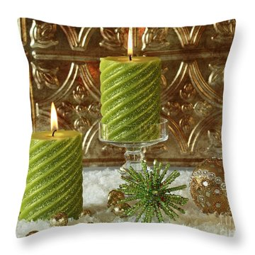 Christmas Joy Throw Pillow by Inspired Nature Photography Fine Art Photography