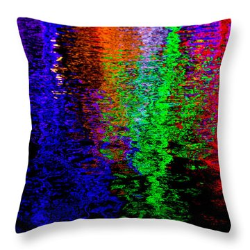 Christmas Light Reflection Throw Pillow