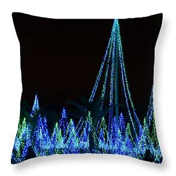 Christmas Lights 1 Throw Pillow