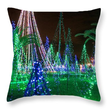 Christmas Lights 2 Throw Pillow