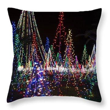 Christmas Lights 3 Throw Pillow