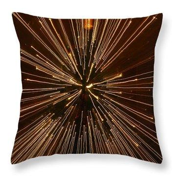 Christmas Lights Throw Pillow by Birgit Tyrrell