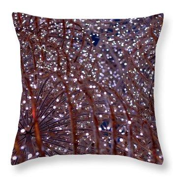 Christmas Lights Throw Pillow by Valentino Visentini