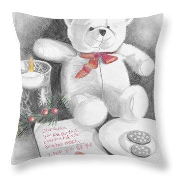 Christmas List Throw Pillow