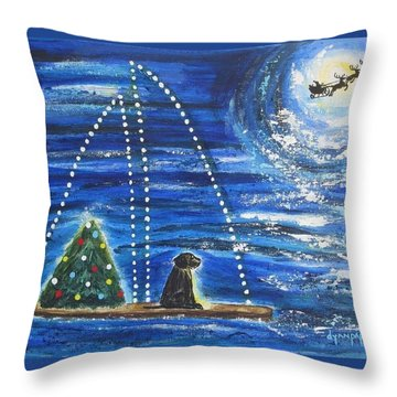 Throw Pillow featuring the painting Christmas Magic by Diane Pape