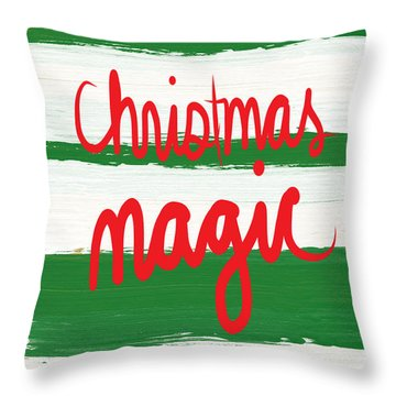 Christmas Magic - Greeting Card Throw Pillow