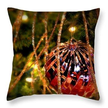 Christmas Magic Throw Pillow by Karen Wiles