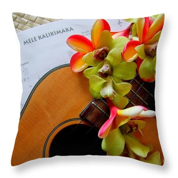 Christmas Mele Throw Pillow by Mary Deal