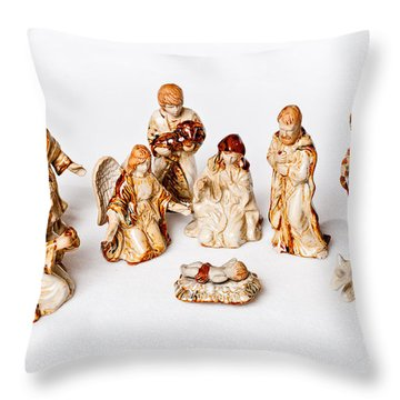 Christmas Nativity Throw Pillow