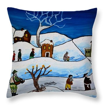Christmas Night Throw Pillow