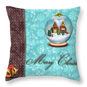 Christmas Card 13 Throw Pillow