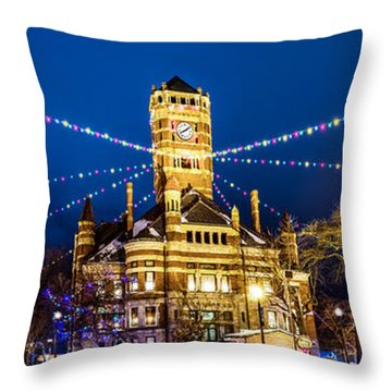Christmas On The Square Throw Pillow