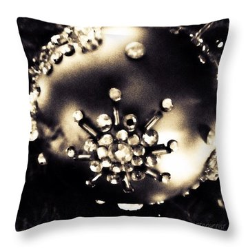 Christmas Ornament In Black And White Throw Pillow