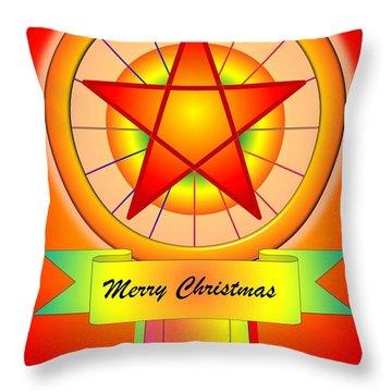 Christmas Parol Throw Pillow