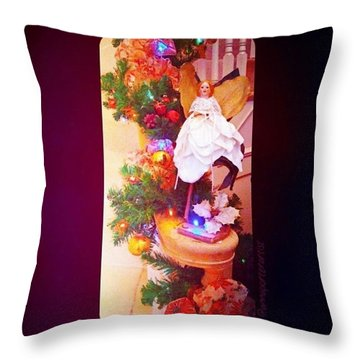 Christmas Past #christmas #decorations Throw Pillow