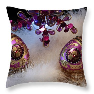 Christmas Past Throw Pillow by Inspired Nature Photography Fine Art Photography
