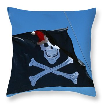 Christmas Pirate Flag Throw Pillow