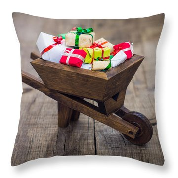 Christmas Presents Throw Pillow by Aged Pixel