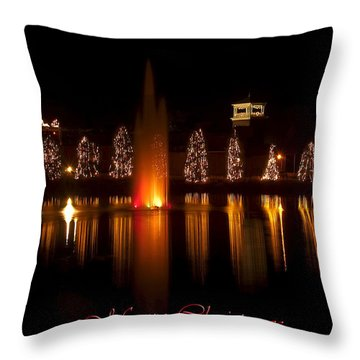 Christmas Reflection - Christmas Card Throw Pillow