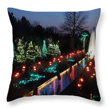 Christmas Reflections Throw Pillow by Rodney Lee Williams
