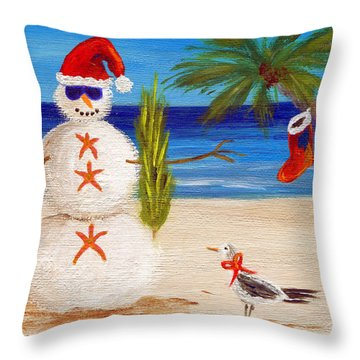 Christmas Sandman Throw Pillow by Jamie Frier